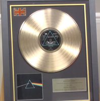 200286 - Pink Floyd - Dark Side of The Moon Framed & Mounted Gold Disc Ltd Edition of 250 only - Treasure TV
