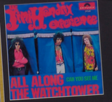 200287 - Jimi Hendrix- All along the Watchtower Framed & Mounted Gold Disc Ltd Edition of 250 only - Treasure TV