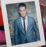 200294 - Michael Buble Mounted Colour Photo Personally Signed - Treasure TV