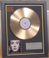 200299 - Adele- 25 Framed & Mounted Gold Disc Ltd Edition of 150 only - Treasure TV