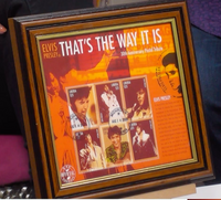 200300 - Elvis Presley-That's The Way It Is 30Th AvnniversaryFramed Stamps Shetlet Limited Edition - Treasure TV