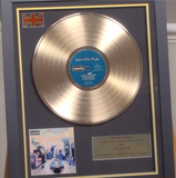 200303 - Oasis- Definitely Maybe Framed & Mounted Gold Disc Ltd Edition - Treasure TV