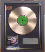 200305 - David Bowie - Hunky Dory Framed & Mounted Gold Disc Ltd Edition of 150 only - Treasure TV