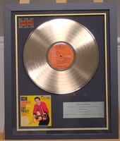 200311 - Elvis Presley- Jailhouse Rock Framed & Mounted Gold Disc Ltd Edition of 150 only - Treasure TV
