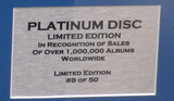 200314 - John Lennon -Imagine Framed & Mounted Platinum Disc Limited Edition of 50 only worldwide - Treasure TV