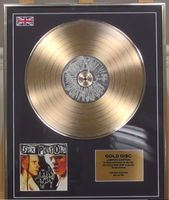 200319 - The Sex Pistols -Framed & Mounted Gold Disc Limited Edition of 50 only Worldwide - Treasure TV