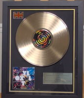 200322 - Coldplay -Mylo Zyloto Framed & Mounted Gold Disc Ltd Edition of 150 only - Treasure TV