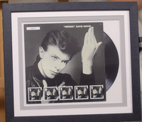 200323 - David Bowie Heroes Framed Fan Stamps Sheetlet - Treasure TV