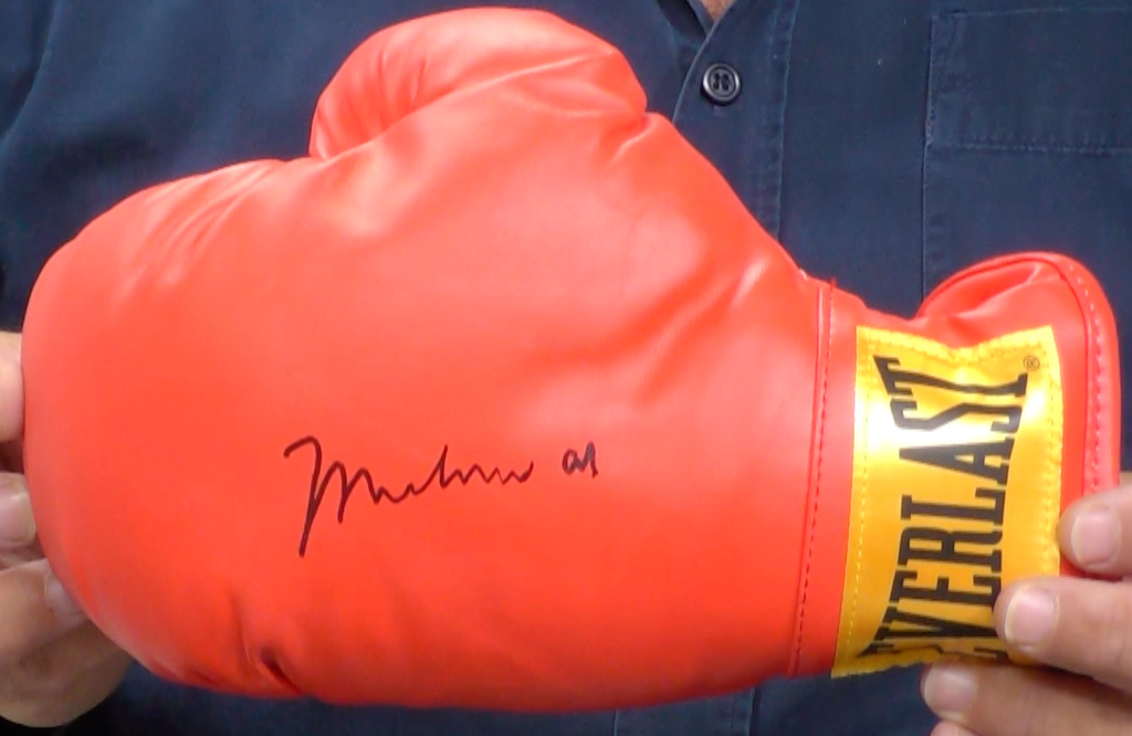 200145 - Muhammad Ali Personally Signed Boxing Glove with Special Hologram Certificate - Treasure TV