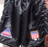 200147 - Mike Tyson Personally Signed Boxing Shorts - Treasure TV