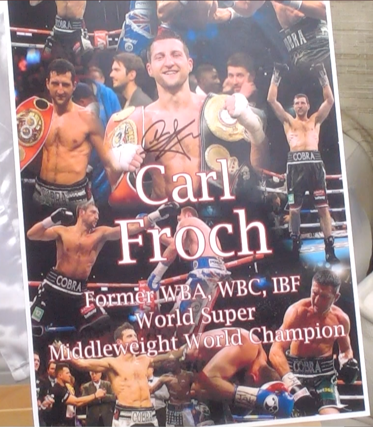 200155 - Carl Froch Mounted Photo Personally Signed - Treasure TV