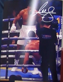 200159 - Anthony Joshua Mounted Action Photo Personally Signed - Treasure TV