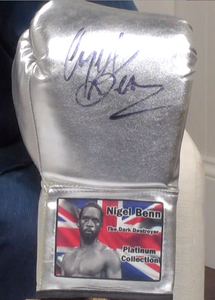 200371 - Nigel Benn Personally Signed Boxing Glove - Treasure TV