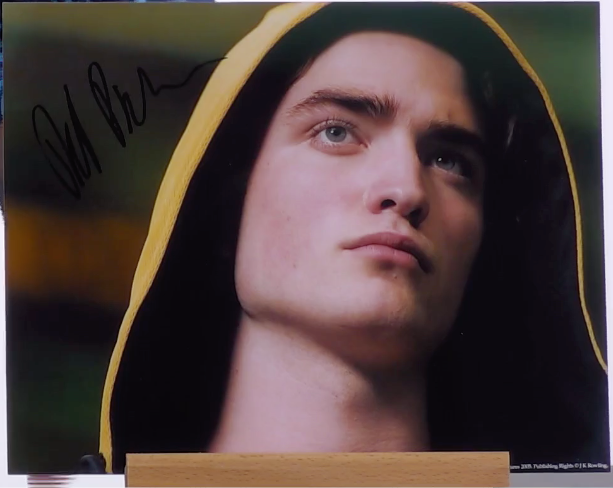 200448 - Robert Pattinson as Cedric Diggory Mounted Colour Photo Personally Signed - Treasure TV