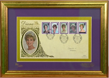 200428 - Princess Diana Framed Commemorative Cover Pers. Signed by Earl Snowdon Ltd Edition - Treasure TV