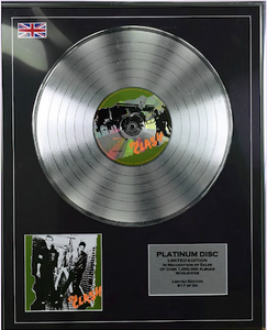 200499 - The Clash Framed & Mounted Platinum Disc Ltd Edition of 50 only - Treasure TV