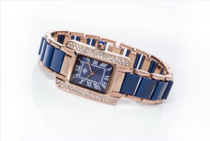 200424 - Whirlwind Ladies Dress Watch Japanese Movement 12 Mths Guarantee -Rose Gold & Blue - Treasure TV