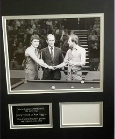 200418 - Jimmy White & Alex Higgins classic Photo Personally Signed by Jimmy White - Treasure TV