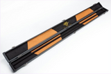 200414- Signature Hard Pre PUC Leather Snooker Cue Carry Case - Black - Signed by Jimmy White - Treasure TV
