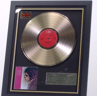 200471 - Bob Dylan- Freewheelin Framed & Mounted Gold Disc Ltd Edition of 50 only - Treasure TV