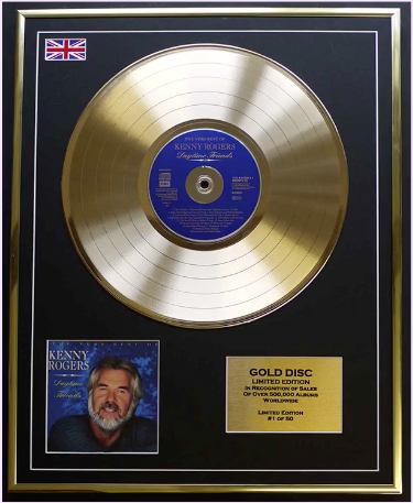 200600 -Kenny Rogers- Daytime Friends Framred & Mounted Gold Disc Ltd Edition of 50 onl - Treasure TV
