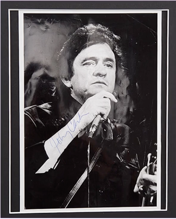 200462 - Johnny Cash Framed & Mounted Classic Photo Personally ...