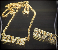 200477 - Elvis Replica  Necklace & Matching Brooch Set - Treasure TV