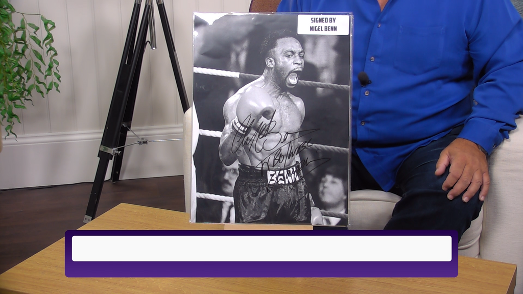 200384 - Nigel Benn Large 16x12 Classic Photo Personally Signed - Treasure TV