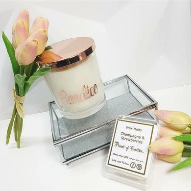 Personalised Candle - XL Scented Soy Wax Candles - Prince of Candles