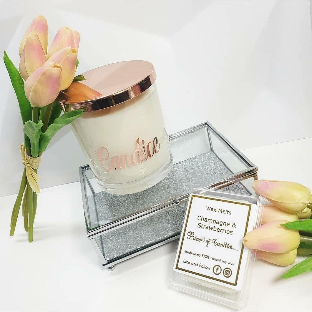 Personalised Candle - XL Scented Soy Wax Candles, Luxury Candle - Prince of Candles