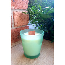 Matte Green Woodwick Soy wax Candle, Wood Wick Candles - Prince of Candles