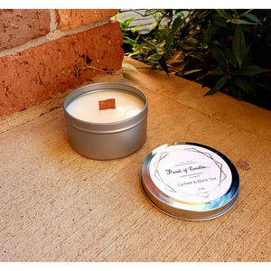 220g Wood Wick travel tin candles, Wood Wick Candles - Prince of Candles