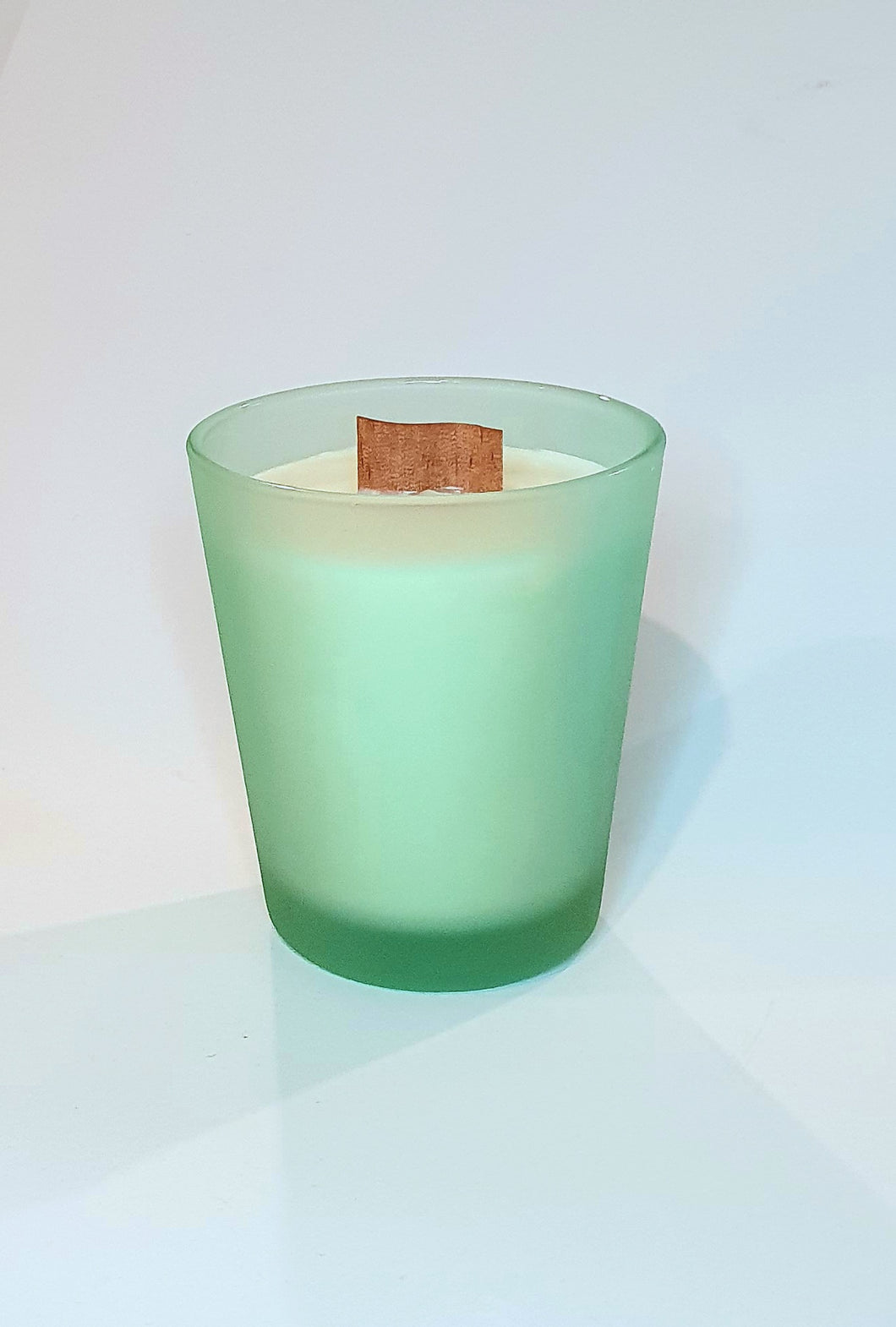 Matte Green Wood Wick Soy wax Candle, Wood Wick Candles - Prince of Candles