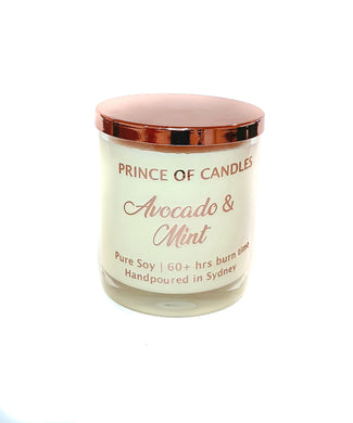 Avocado & Mint Scented Woodwick Candles - Prince of Candles