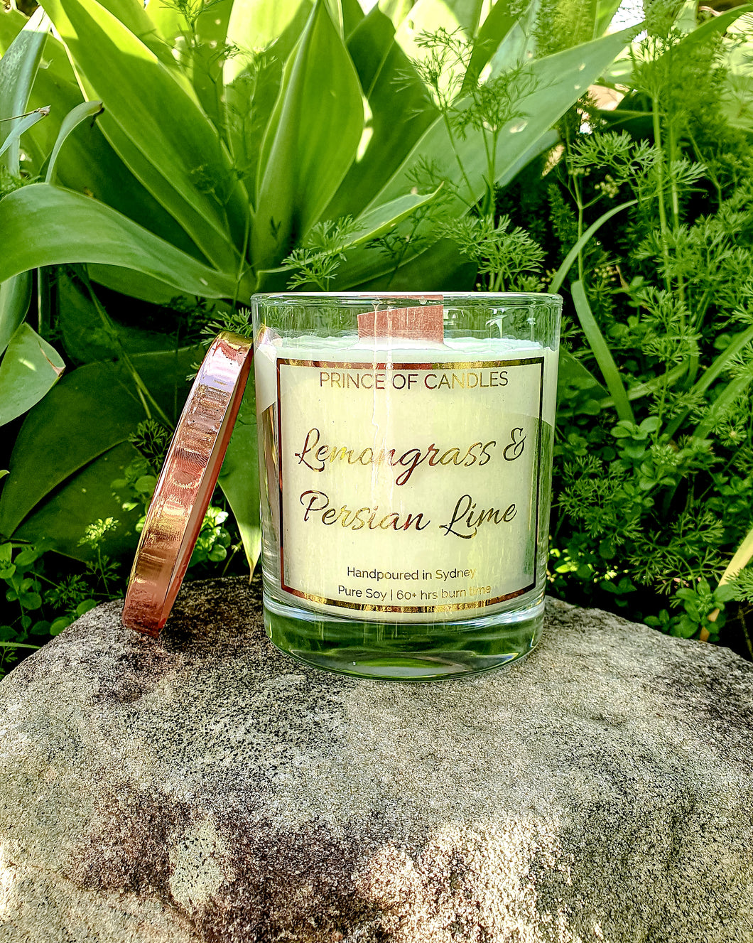 Lemongrass and Persian Lime Scented Candle - Prince of Candles