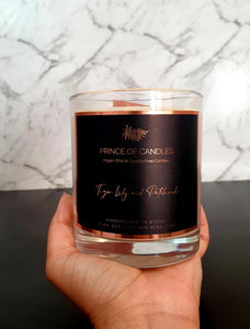Tiger Lily & Patchouli Woodwick Scented Candle - Prince of Candles