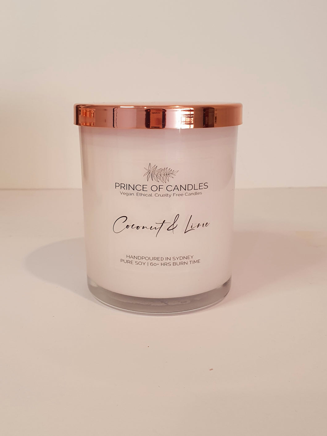 LIMITED EDITION: Coconut & Lime hand poured soy candles Australia - Prince of Candles