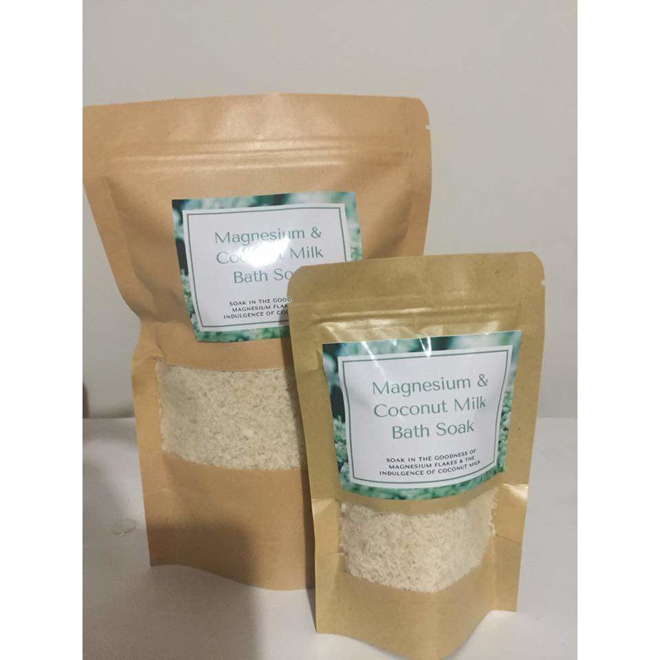 110g Magnesium Bath Soak with coconut milk,  - Prince of Candles
