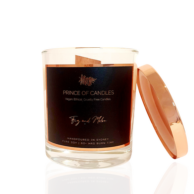 Fig & Melon Woodwick Scented Candle - Prince of Candles