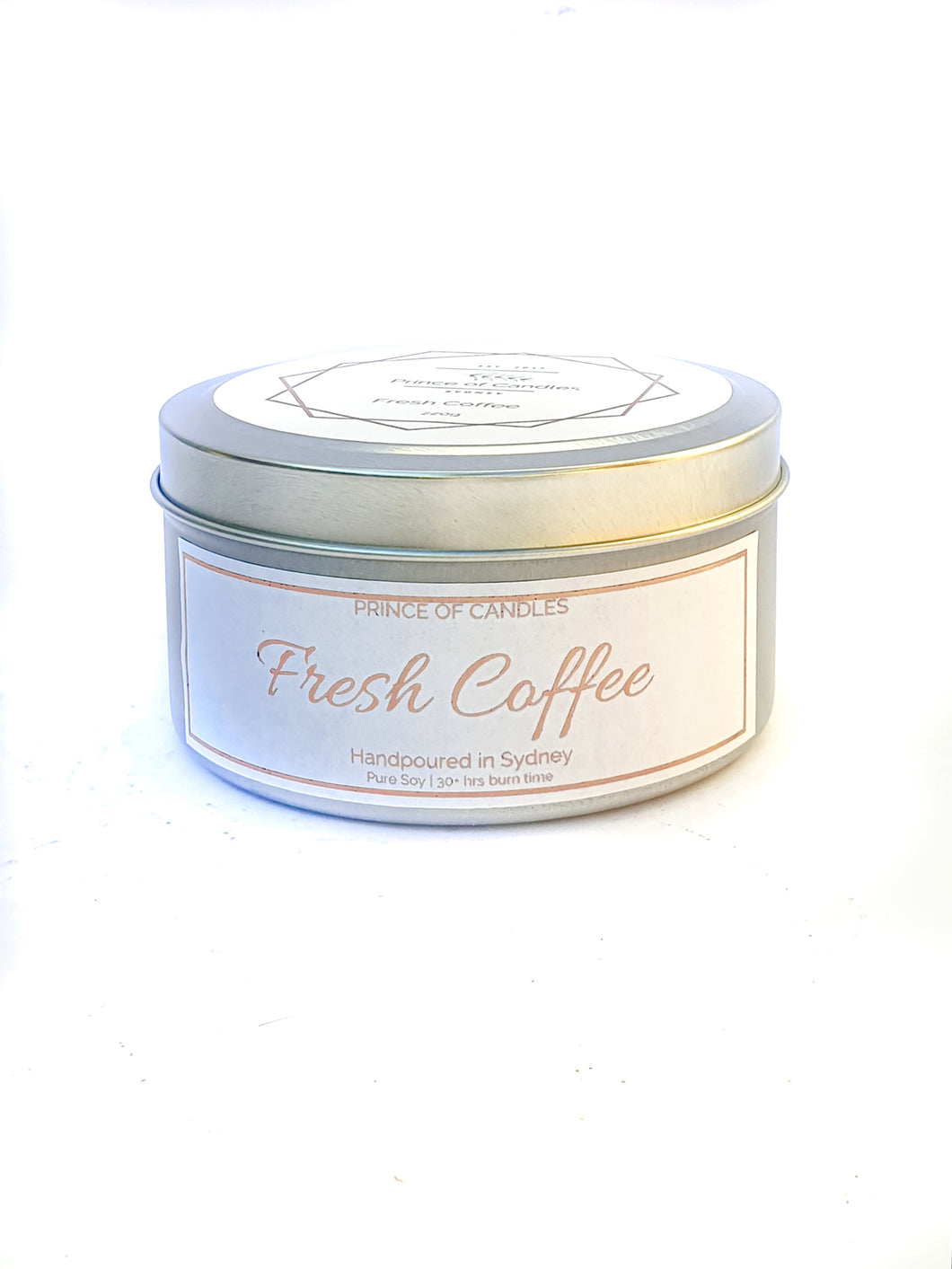 Scent Sample Fresh Coffee Scented Candle, Wood Wick Candles - Prince of Candles