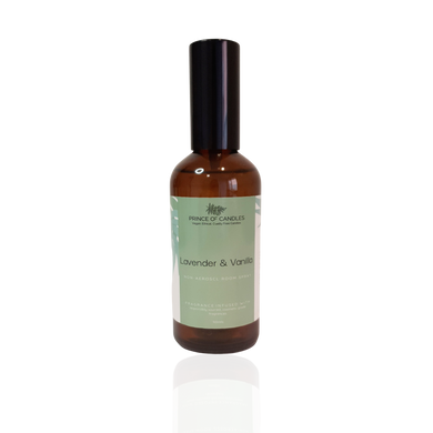 100ml Lavender and Vanilla Room Spray - Prince of Candles