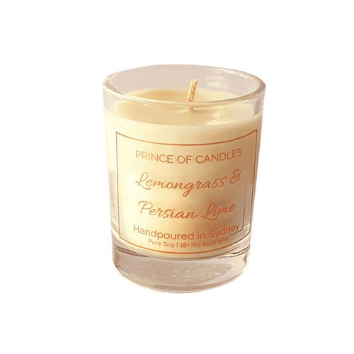 Scent Sample Lemongrass and Persian Lime Scented Candle, Sample Size - Prince of Candles