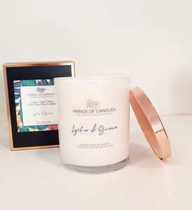 LIMITED EDITION: Lychee & Guava hand poured soy candles Australia - Prince of Candles