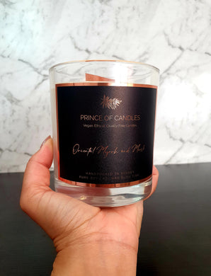 Oriental Myrrh & Musk Woodwick Scented Candle - Prince of Candles