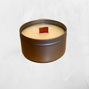 220g Woodwick travel tin candle, Wood Wick Candles - Prince of Candles