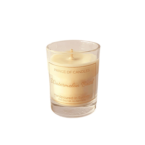 Scent Sample watermelon Basil Scented Candle, Sample size - Prince of Candles