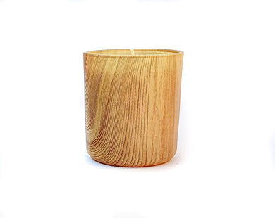 Sandalwood Wood Grain Scented Soy Wax Candle - Prince of Candles