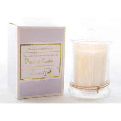 Coconut and Vanilla hand poured soy candles australia - Prince of Candles