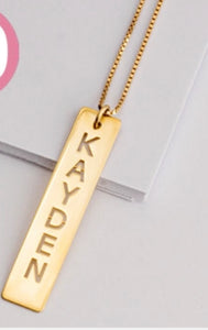 Cut Out Name (One Pendant)