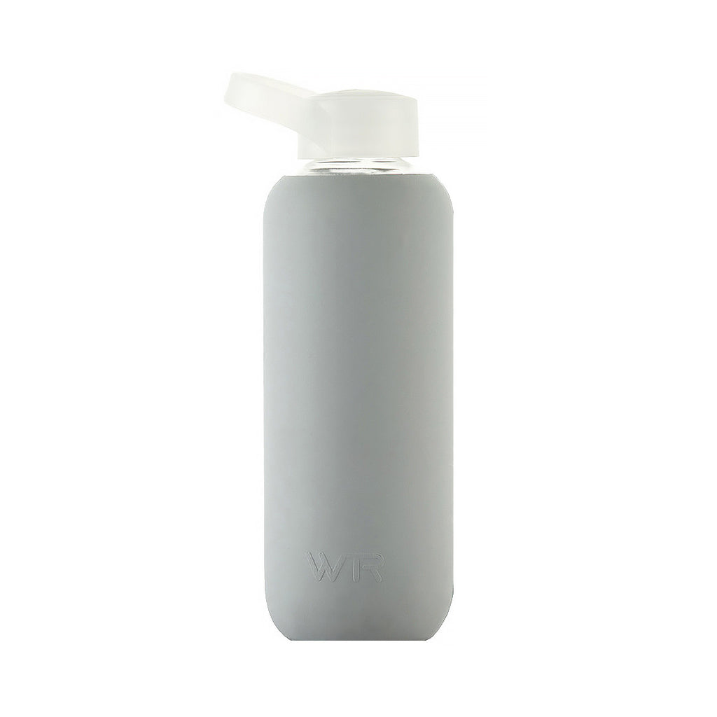 Grey BPA free glass water bottle